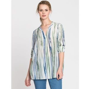 NIC+ZOE Mojito Nights Silk Blend Top Size Small
